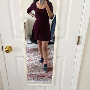American Eagle burgundy knit dress